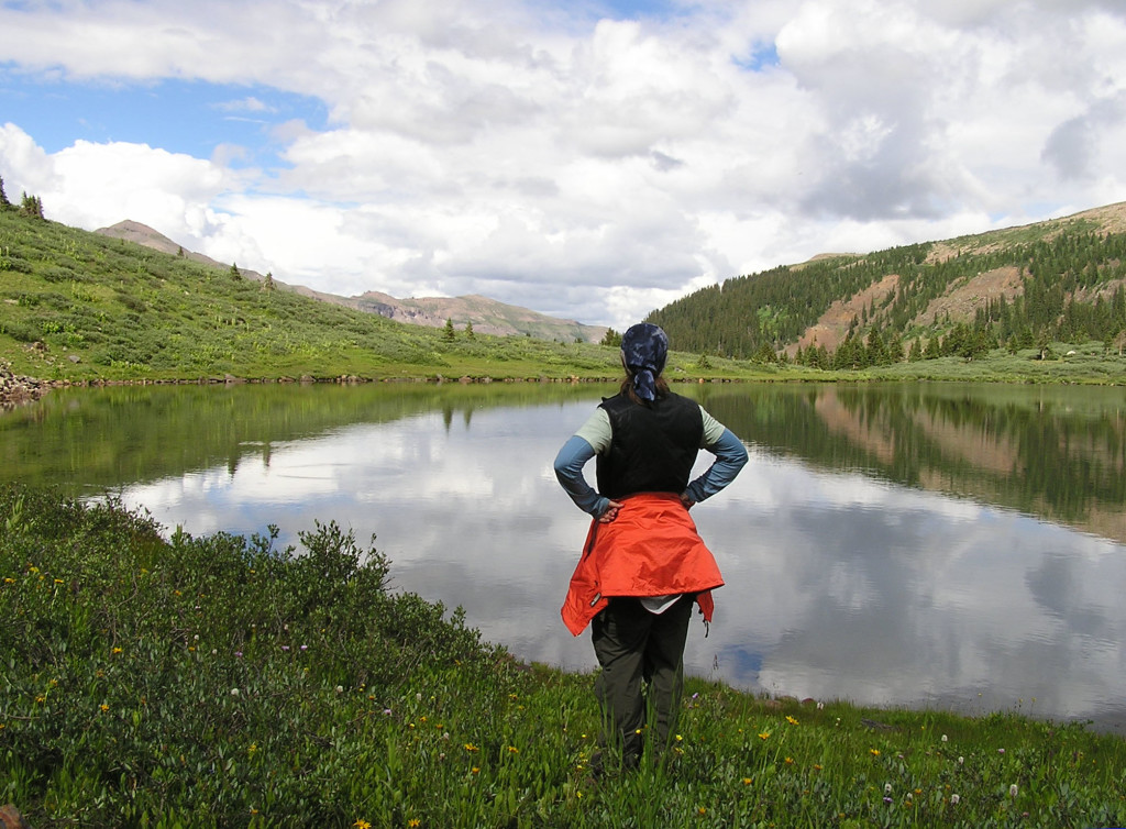 2008 Backpacking trip through the Weimenuche Wilderness. This is West Ute Lake.